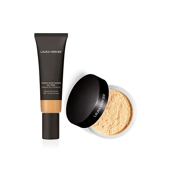 Tinted Moisturizer Oil-free and Translucent Loose Setting Powder Duo